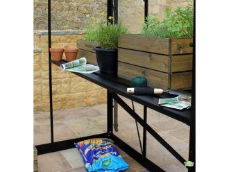 Tafel Gardener 161, geïntegreerd, zwart