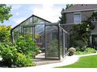 ACD Vrijstaande Tuinkas R305H-B met veiligheidsglas- Aluminium - 11,35 m² - 371 x 306 x 259