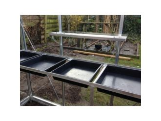 Maatwerk tafel ACD-kas excl zaaikisten / zijkant 370cm